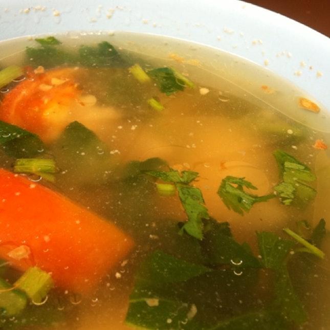 Sliced fish soup @ East Coast