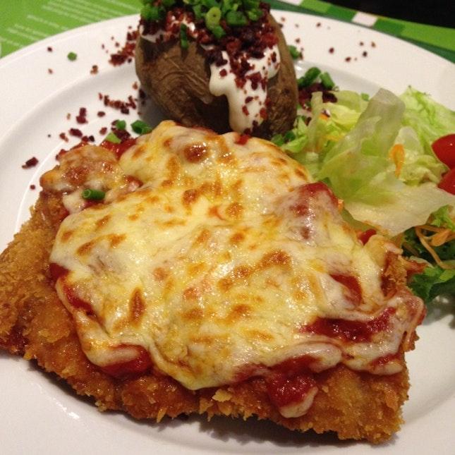 Tomato & Cheese Chicken Cutlet