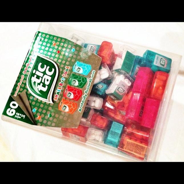 tic tac 60 mini boxes in one big box by zhihui lim