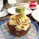 Pistachio Butter Filled Matcha Cupcake