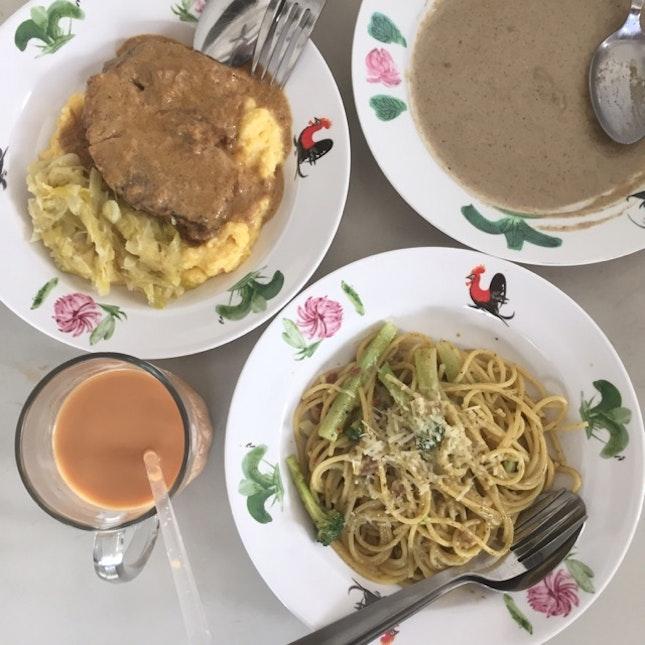 Birthday Pasta / Pork Shoulder In Milk / Porcini Mushroom Soup