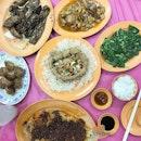Sambal Balacan Fish/ Crispy Tofu/ Hae Zor/ Yam Ring