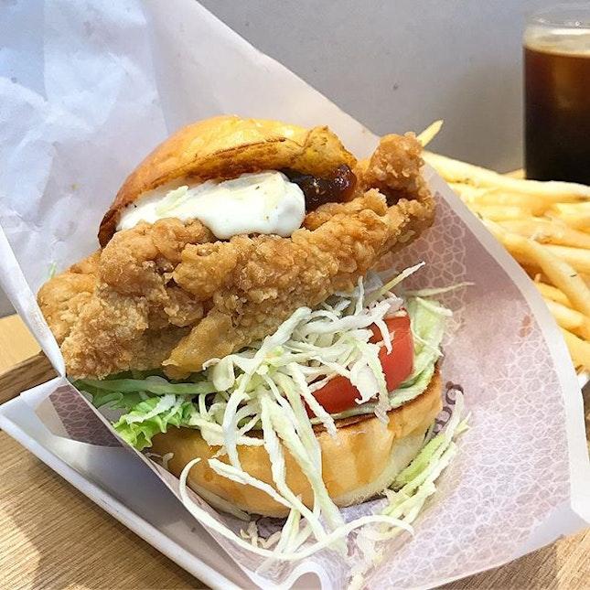 Chicken Namban Burger ($9.50 ala carte/ +$5.50 for coffee/tea/coke & truffle fries or salad).