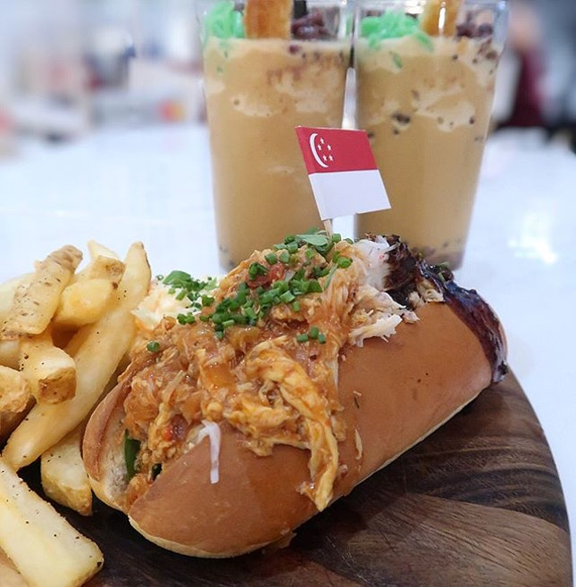In view of National Day, d' Good Cafe has new local-inspired additions to the menu- Bun Bun Crab Duo ($19), and Kopi Chendol ($8.50).
