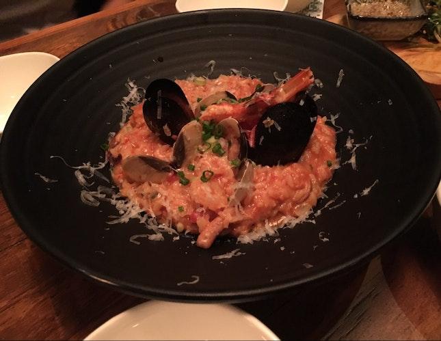 Seafood Gochujang Risotto