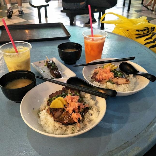 Tajima Wagyu And Pork Cheek Bento ($17.50) With 72h Short Ribs ($6)