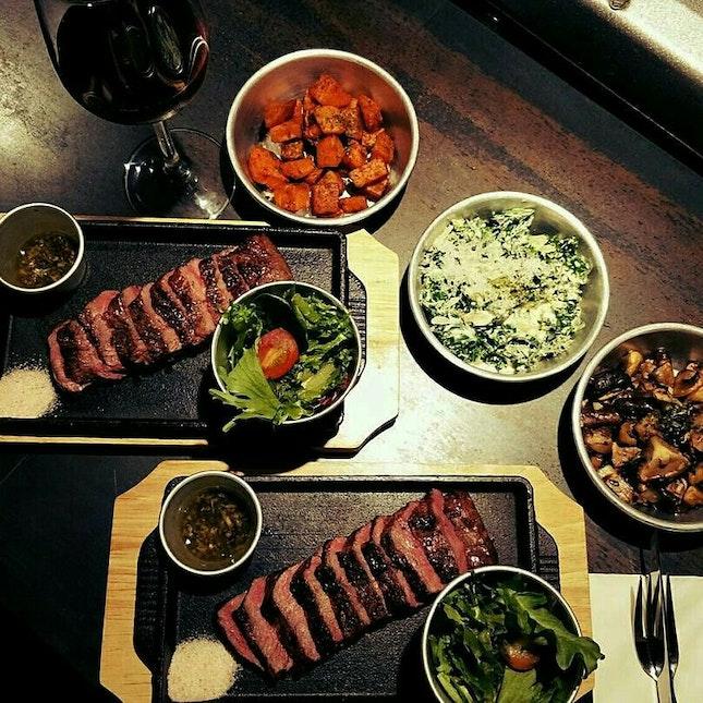 Flat Iron Steak Set ($35++)