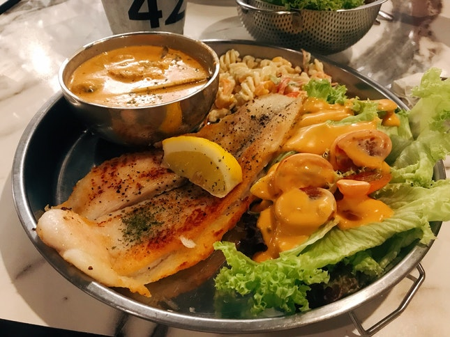 Pan Fried Dory With Tom Yum Sauce