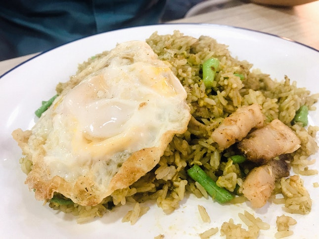 Green Curry Fried Rice With Crispy Pork ($6)