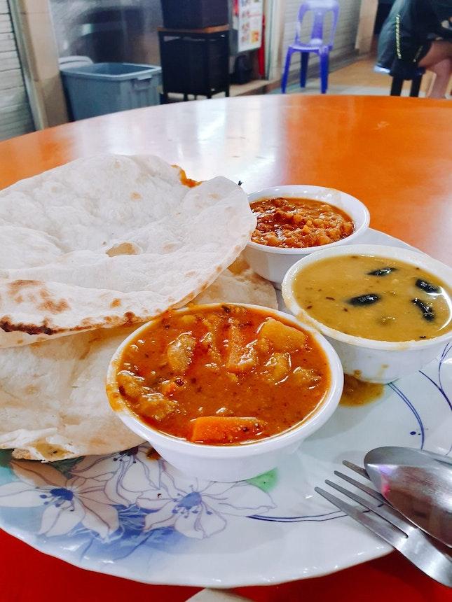 Vegetarian Naan ($6)