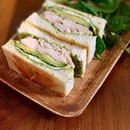Generous portion of avocado, sandwiched with pesto, chicken and feta cheese!