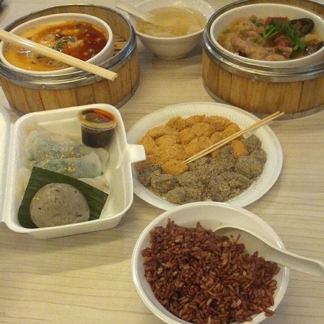 Steamed brunch #foodporn #singapore #foodcourt #hawker