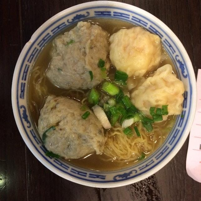 Wonton And Big Fish Meat Noodles