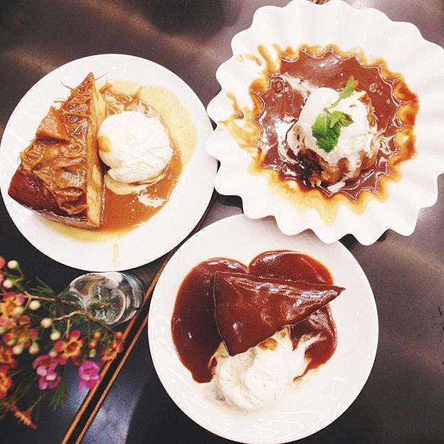 Desserts overload.