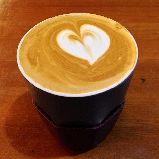 Kintamani Flat White #kintamani #flat #white #brewed #coffee #bean #arabica #coffeeworks #koffeeworks #coffeeart #milk #life #yahava #studentlife #addict #caffeine #instacoffee #instapic #instatag #instadaily #pic #potd #picoftheday #igfame #igsg #iphone5c #singapore