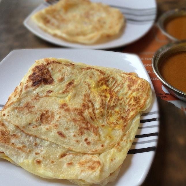 Prata, one of Singapore's morning favourites.