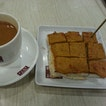 Otah Toast w a cup of Yuan Yang