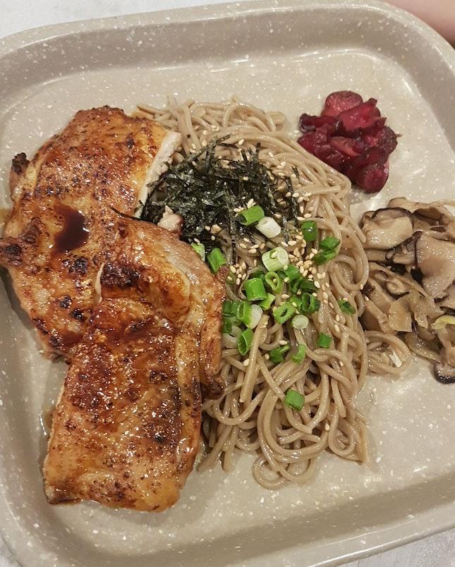 Grilled chicken w Soba
