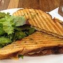 Gruyere cheese sandwich.