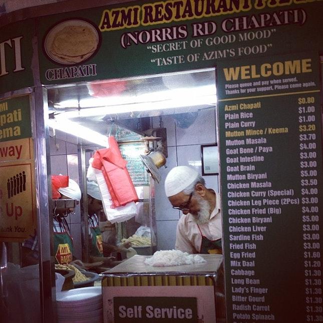Favorite chapati restaurant in Sg ...Azmi Restaurant Pte Ltd at Norris Road ..