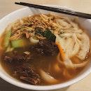 Pork Rib Knife Shaved Noodles, 排骨刀削面 ($6.50)