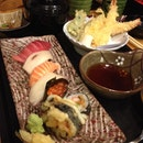 tempura sushi lunch set ($35++)