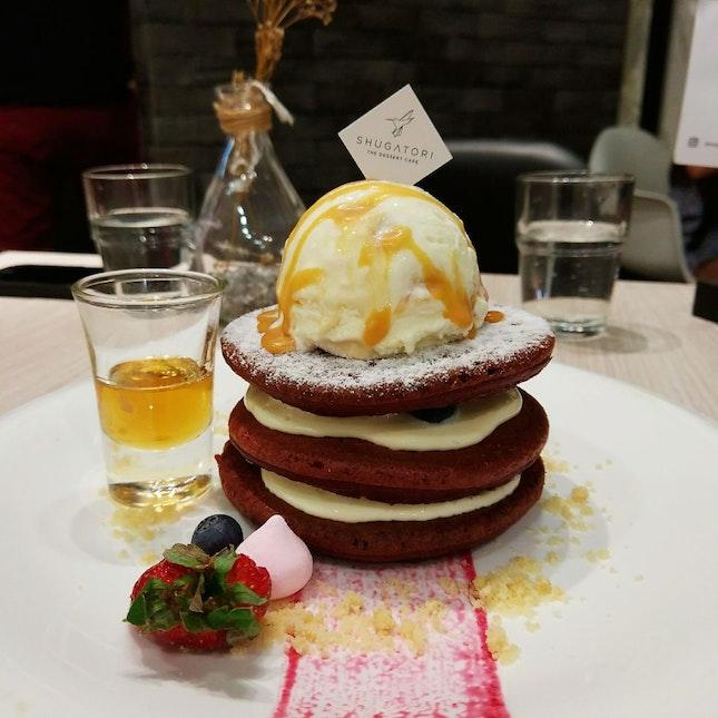 Red Velvet Pancakes (RM26)