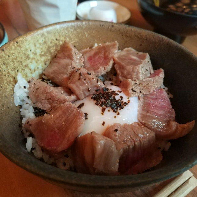 Wagyu Don Set Lunch ($48++)