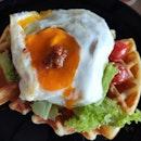 Beef Ragu Waffle Sandwich ($18)