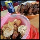 Today #Lunch having #FriedYongTauFoo + #鸭头  08/04/2014
