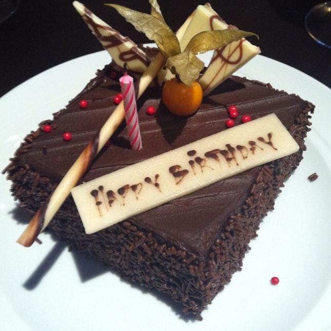Cake Garnished W Tomato Chocolate Birthday F 37