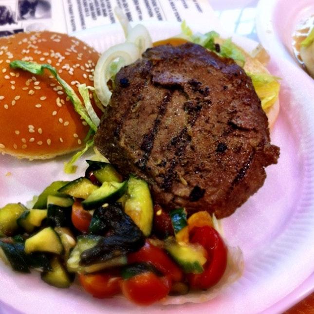 Gourmet Beef Burger #saints