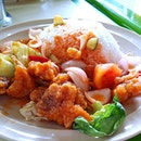 Sweet & Sour Chicken for lunch!!