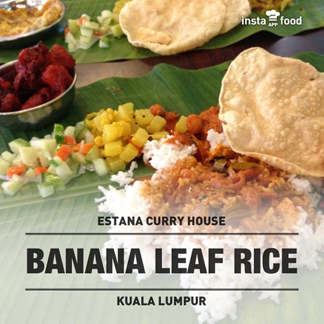 #Bananaleafrice #instafood #instafoodapp #instagood #food #foodporn #photooftheday #picoftheday #instadaily #malaysia  #estanacurryhouse #food #foodporn #restaurant #night