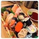 Varieties of Sushi Fried Carrot Cake @igsg @instagram #igsg #igfood #instafood #instagram #sgfood #japanesecuisine #sushi #yummy #delicious #instacollage #takashimaya #coldstorage