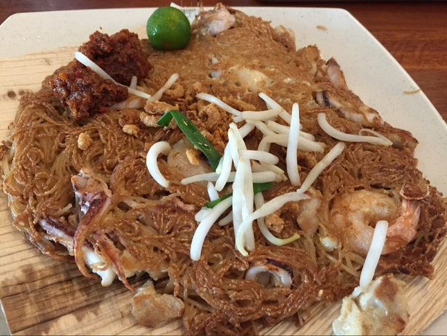 Pan Fried Bee Hoon With Seafood