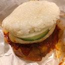 Nasi Lemak Chicken Burger