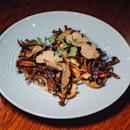 Mushroom & Truffle Bruschetta with Smoked Scamorza