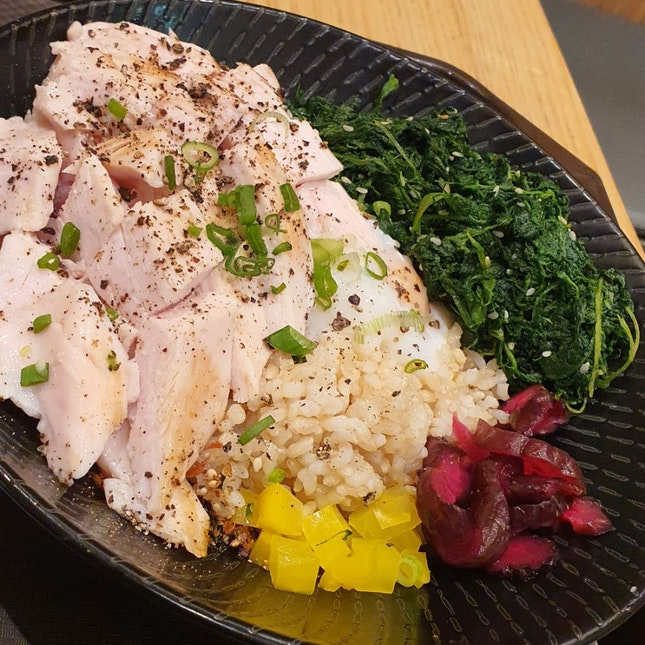Chicken Breast With Donburi And Sesame Spinach