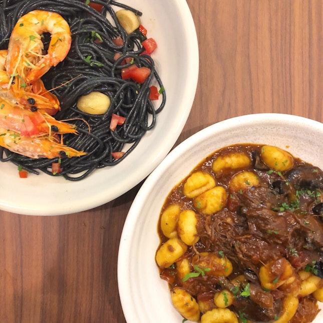 Seafood Aglio Olio & Duck Gnocchi