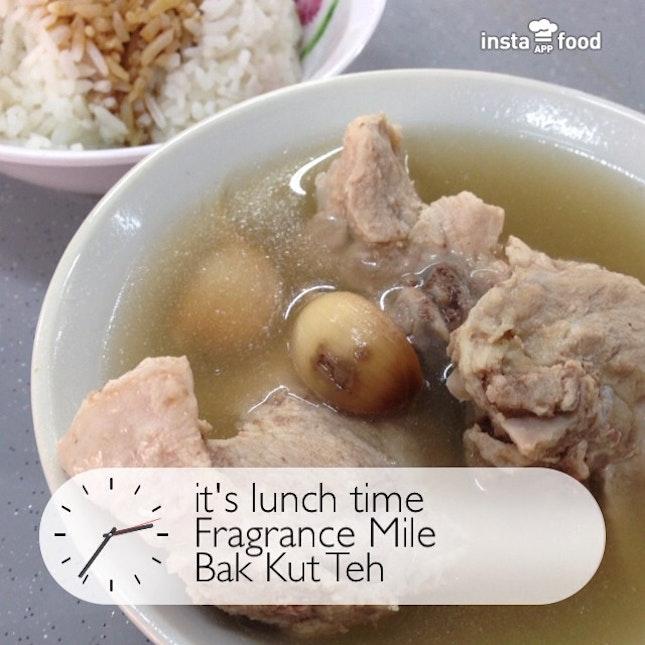 Having Bak Kut Teh as my late #lunch.