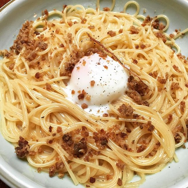If you ask me, the carbonara was really just meh 😐.