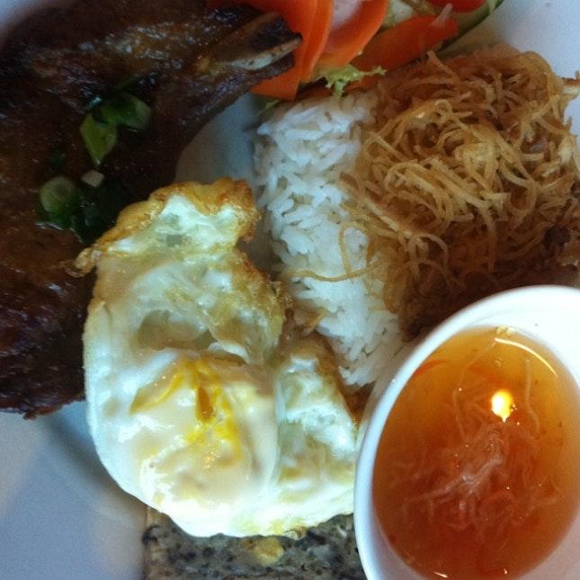 Pork chop with broken rice @ Little Vietnam