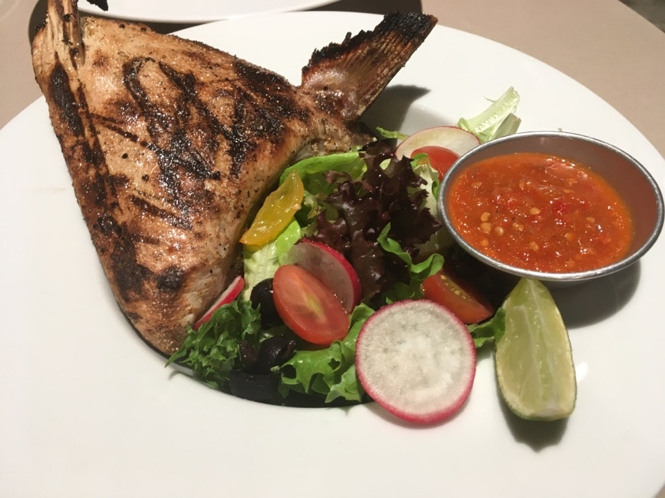 Grilled Kingfisher Collar With Chinchalok