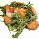 Vegetarian Chili Crab Style Linguine ($16)