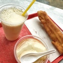 Soya Bean Milk ($1.20), Soya Beancurd ($1.20), You Tiao ($1)