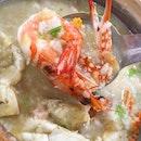 Flower Crab & Prawn Porridge ($8/$18/$28).