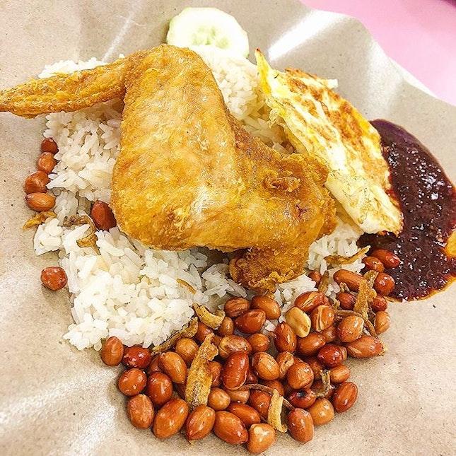 Nasi Lemak Chicken Set ($3.50).