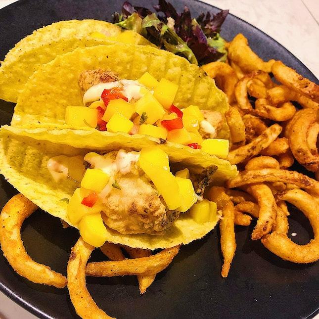 Crispy Fish Fillet Tacos ($23)