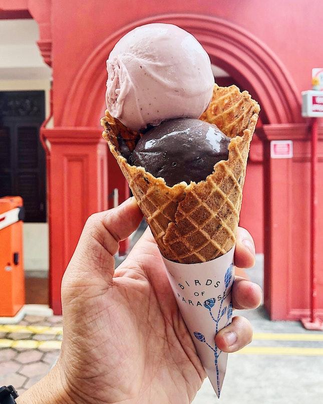 Double Scoops Gelato In Cone ($10).